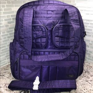 Lug Puddle Jumper Overnight Gym Bag In Purple NWOT